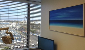 Higgs Beach now hangs in the office Dr. Heather Winthers Dental office in Marina del Rey
